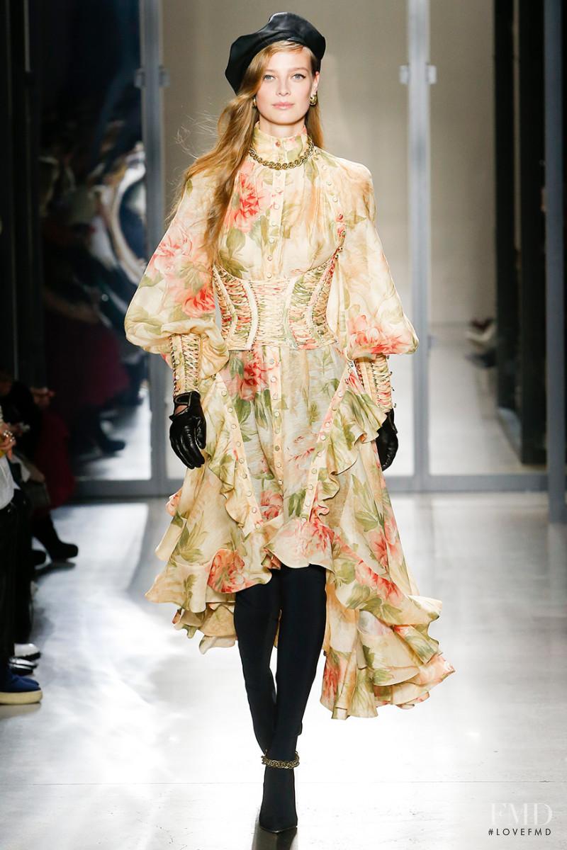 Ine Neefs featured in  the Zimmermann fashion show for Autumn/Winter 2019
