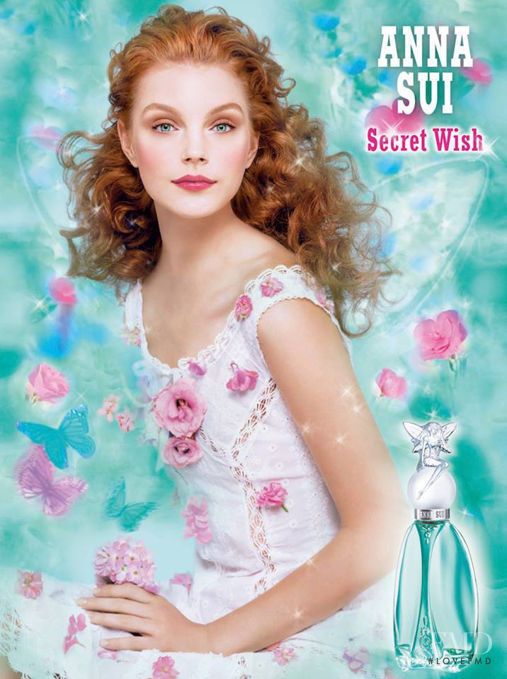 Jessica Stam featured in  the Anna Sui Secret Wish Fragrance advertisement for Spring/Summer 2005