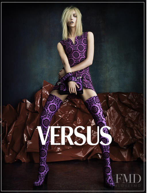 Karlie Kloss featured in  the Versus advertisement for Autumn/Winter 2012
