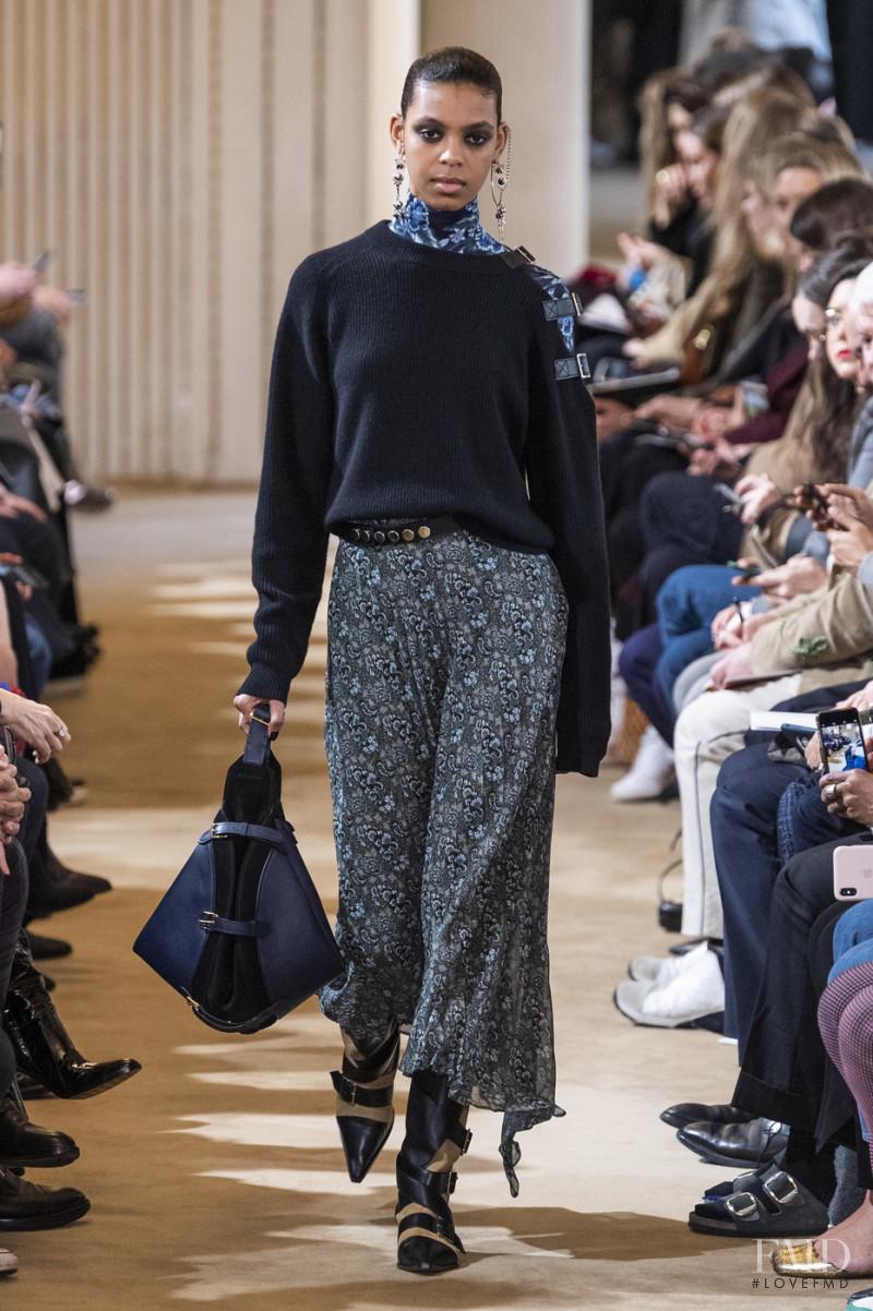 Alyssa Traore featured in  the Altuzarra fashion show for Autumn/Winter 2019