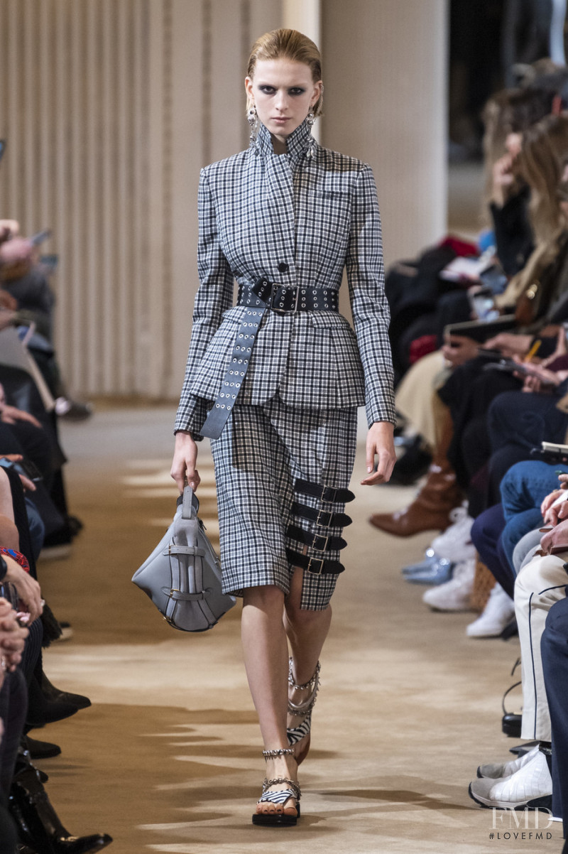 Emily Driver featured in  the Altuzarra fashion show for Autumn/Winter 2019