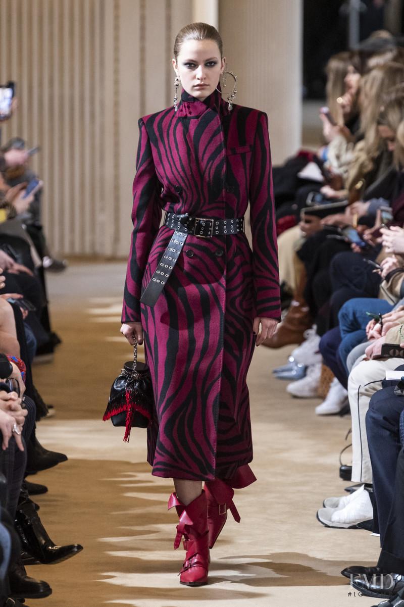 Felice Noordhoff featured in  the Altuzarra fashion show for Autumn/Winter 2019
