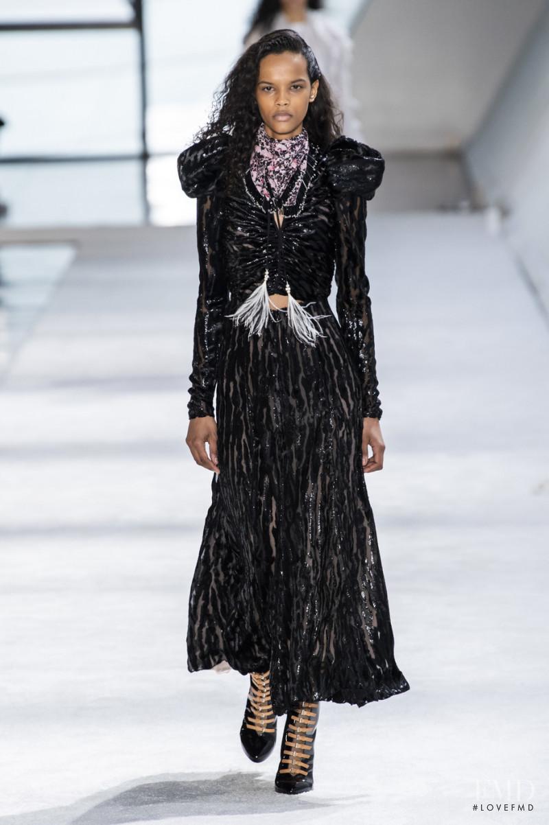 Natalia Montero featured in  the Giambattista Valli fashion show for Autumn/Winter 2019
