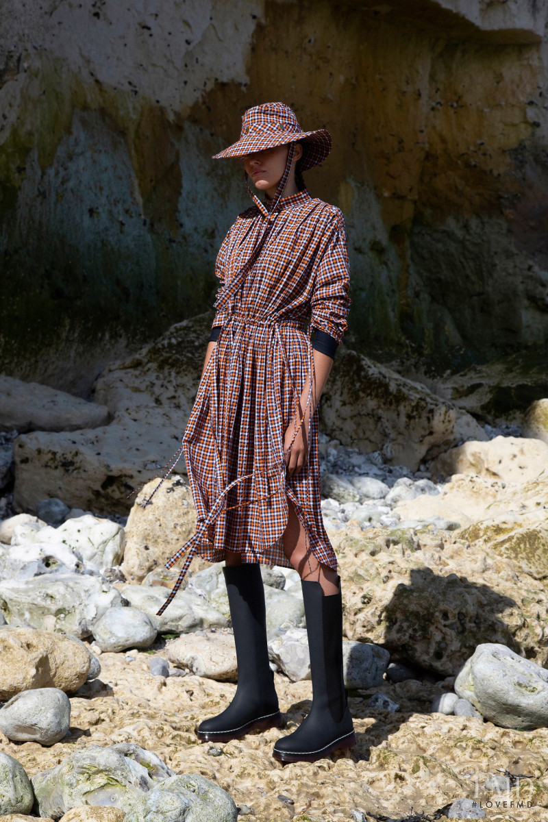 Danielle Lashley featured in  the Cedric Charlier lookbook for Resort 2020