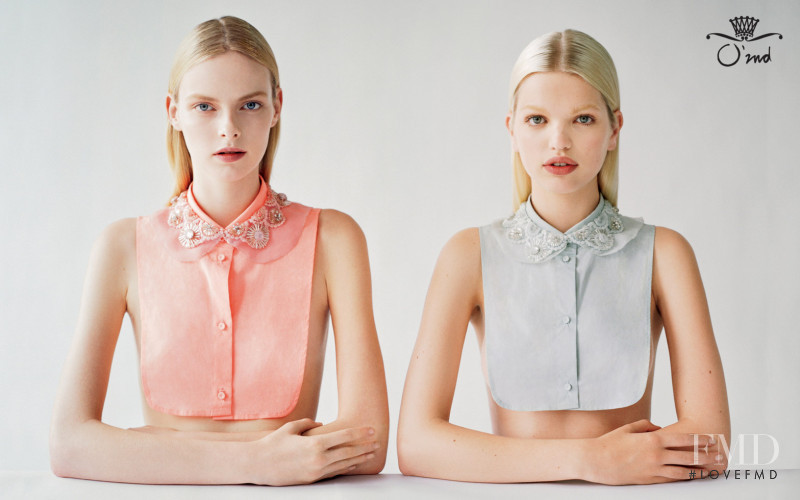 Daphne Groeneveld featured in  the O\'2nd advertisement for Autumn/Winter 2012