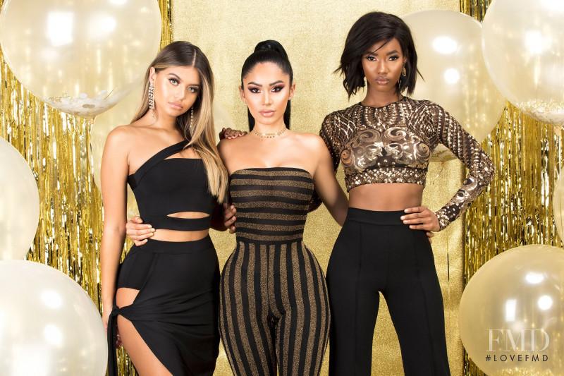 Sofia Jamora featured in  the Fashion Nova 10 Million lookbook for Spring/Summer 2018