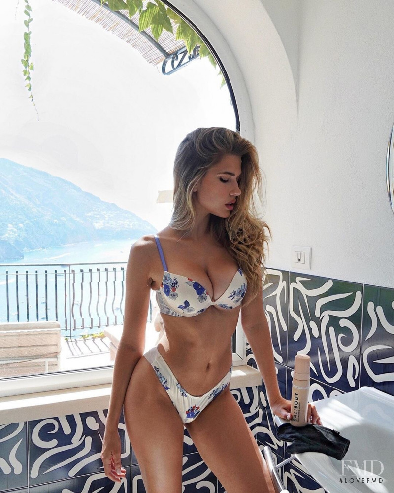 Kara Del Toro featured in  the Balibody advertisement for Spring/Summer 2019