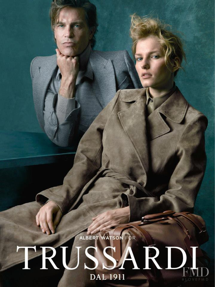 Marique Schimmel featured in  the Trussardi 1911 advertisement for Autumn/Winter 2012