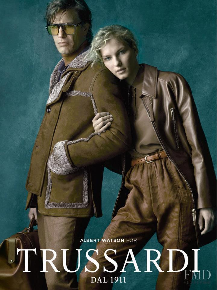 Marique Schimmel featured in  the Trussardi 1911 advertisement for Autumn/Winter 2012