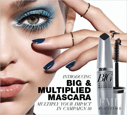 Zhenya Katava featured in  the AVON advertisement for Fall 2016