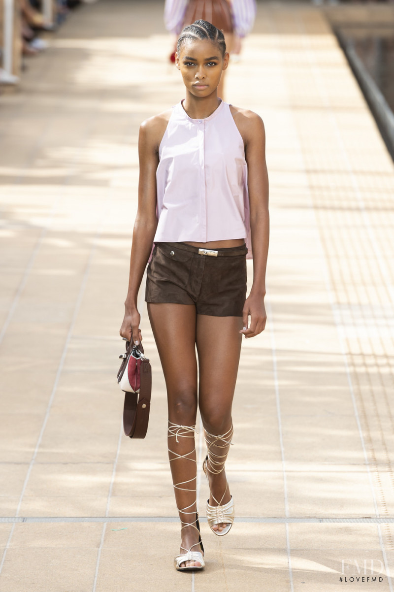 Blesnya Minher featured in  the Longchamp fashion show for Spring/Summer 2020