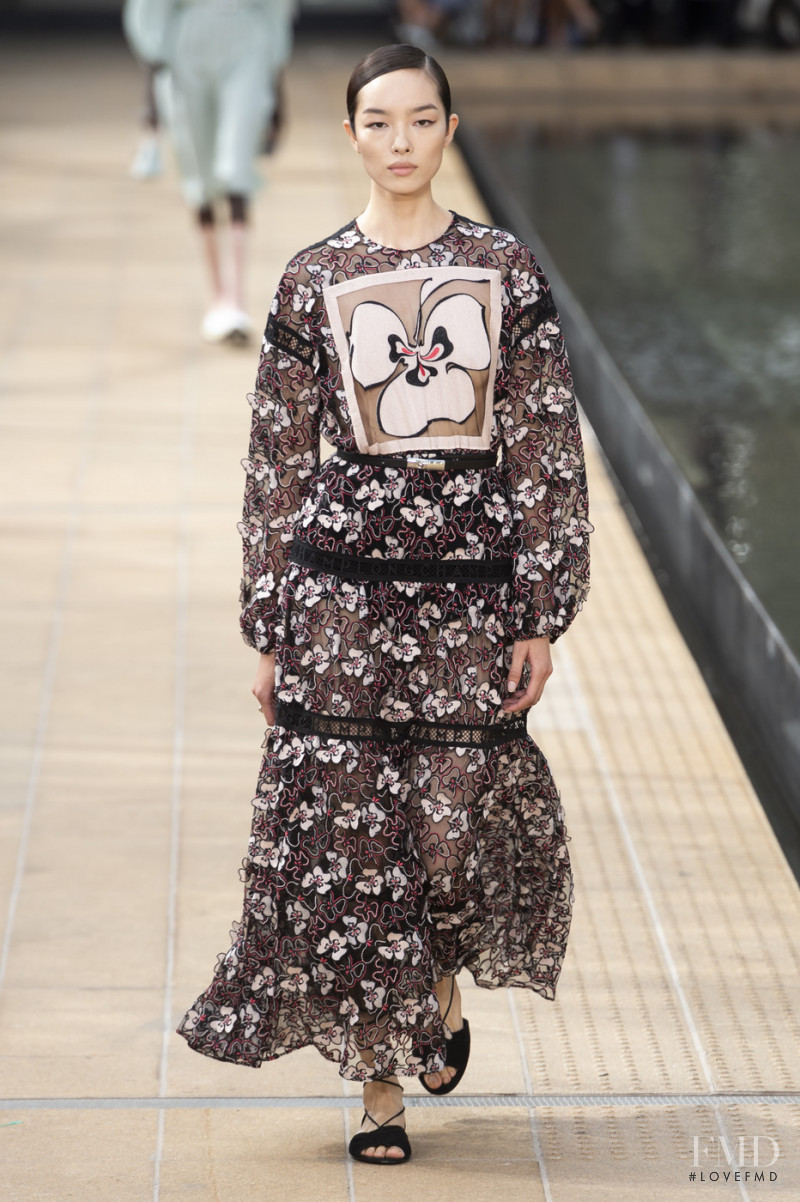 Fei Fei Sun featured in  the Longchamp fashion show for Spring/Summer 2020