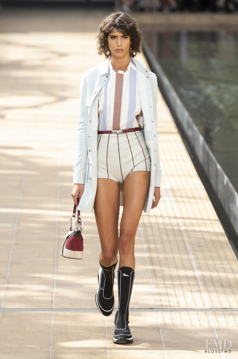 Mica Arganaraz featured in  the Longchamp fashion show for Spring/Summer 2020