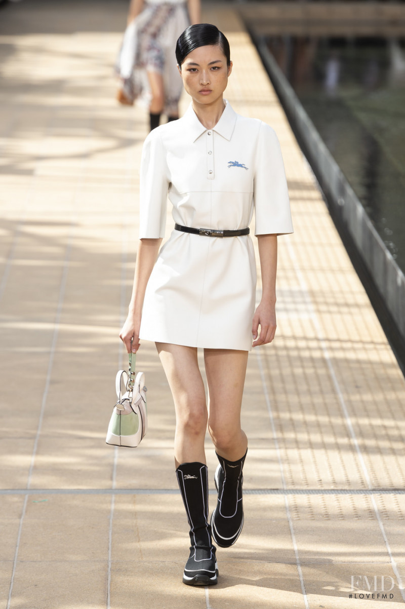 Jing  Wen featured in  the Longchamp fashion show for Spring/Summer 2020