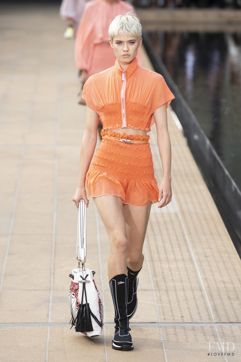 Maike Inga featured in  the Longchamp fashion show for Spring/Summer 2020