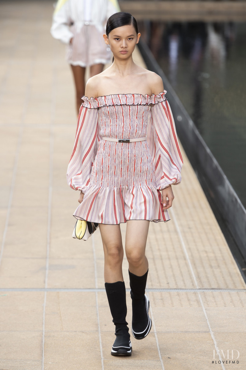 Shu Ping Li featured in  the Longchamp fashion show for Spring/Summer 2020