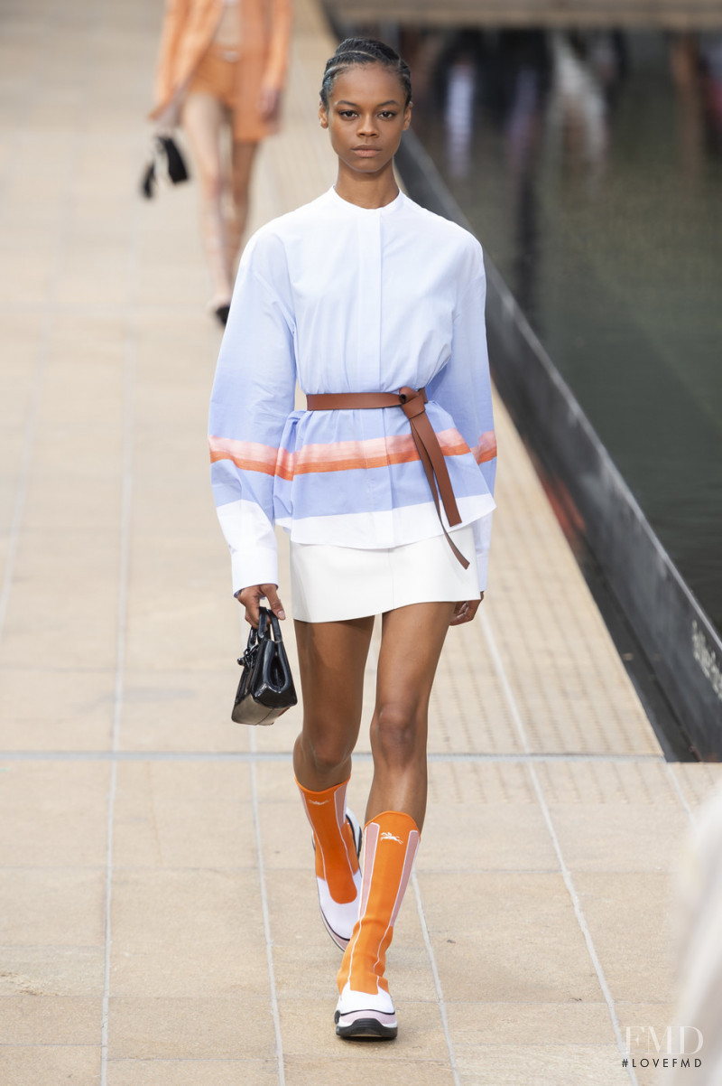 Aaliyah Hydes featured in  the Longchamp fashion show for Spring/Summer 2020