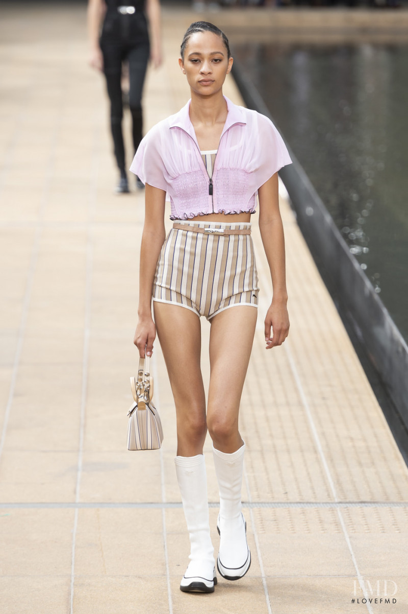 Selena Forrest featured in  the Longchamp fashion show for Spring/Summer 2020