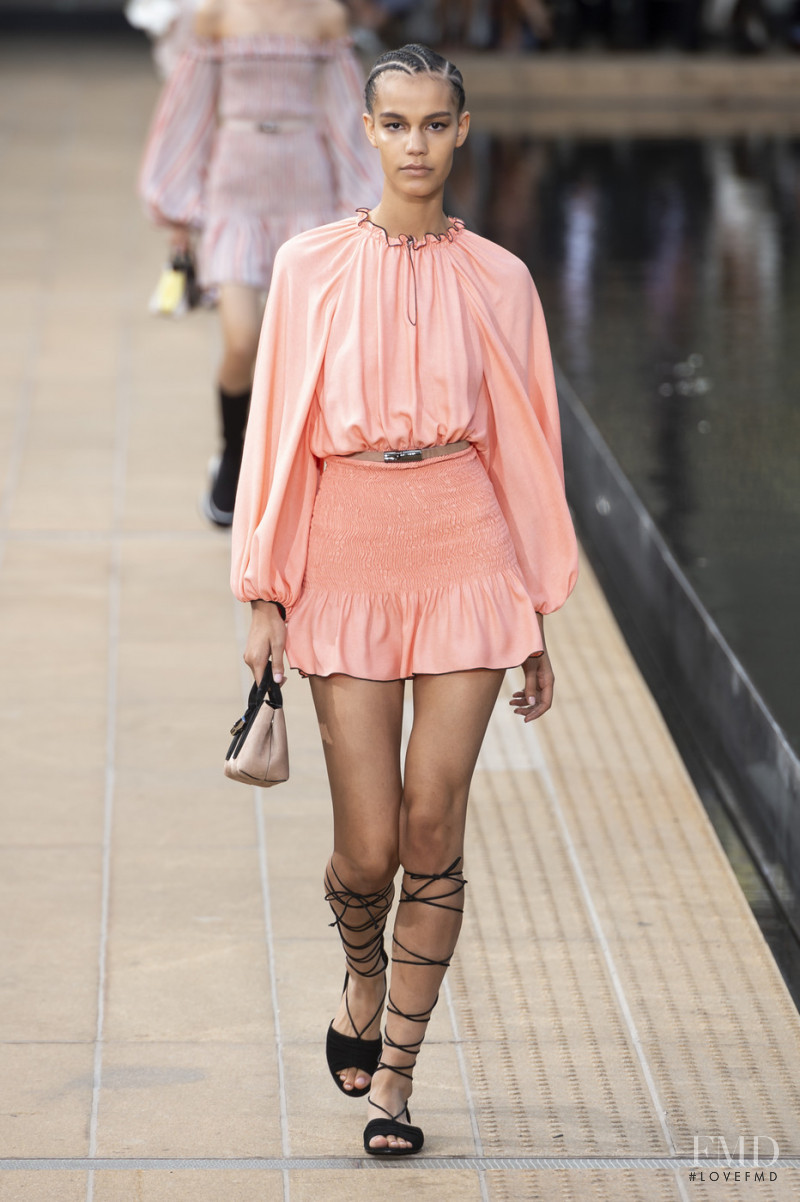 Shelby Hayes featured in  the Longchamp fashion show for Spring/Summer 2020