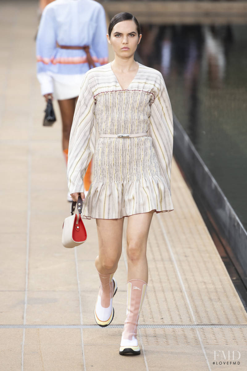 Lily Stewart featured in  the Longchamp fashion show for Spring/Summer 2020