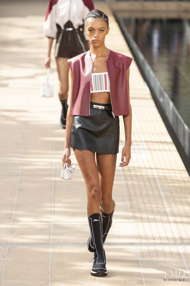 Kukua Williams featured in  the Longchamp fashion show for Spring/Summer 2020