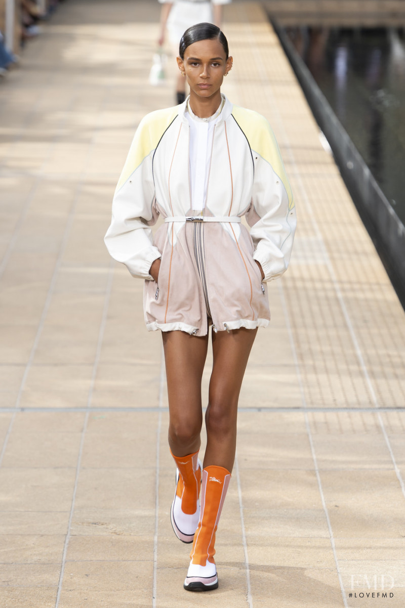 Binx Walton featured in  the Longchamp fashion show for Spring/Summer 2020