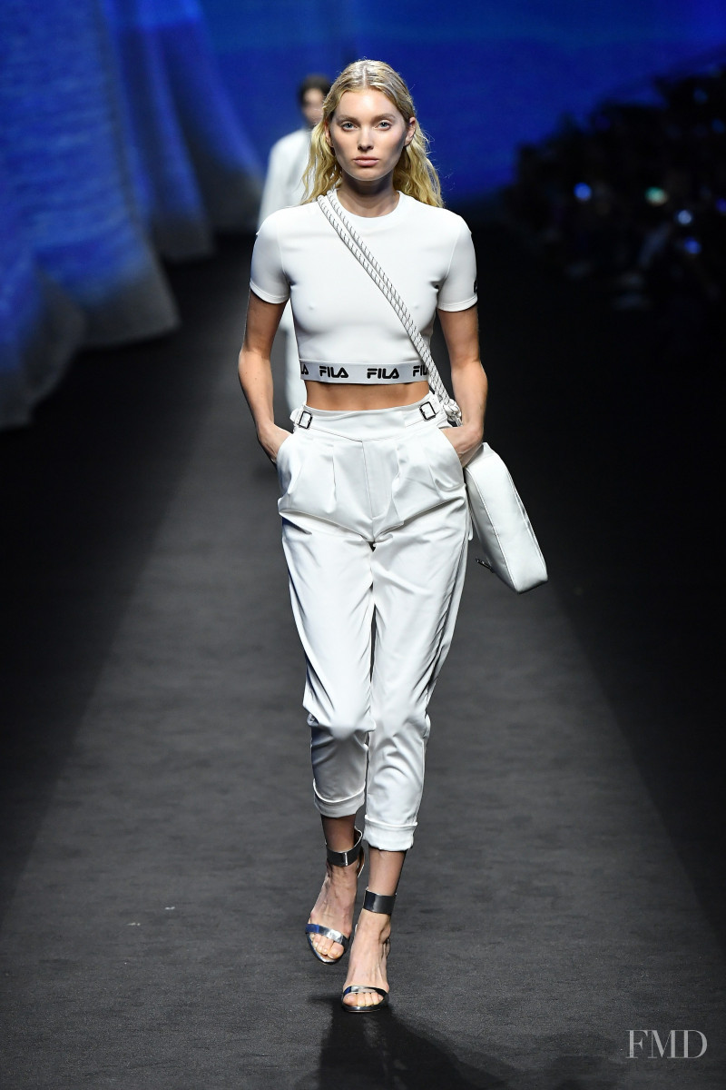 Elsa Hosk featured in  the Fila fashion show for Spring/Summer 2020