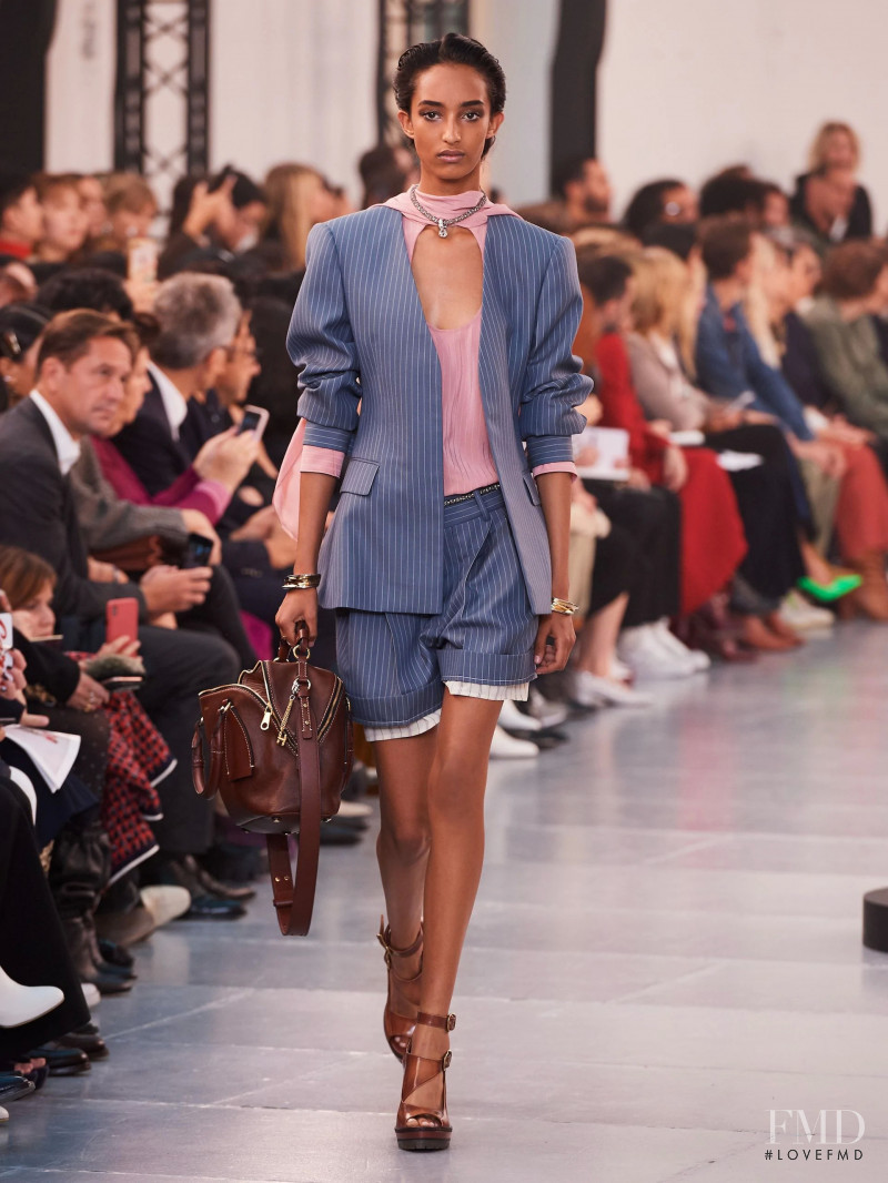 Mona Tougaard featured in  the Chloe fashion show for Spring/Summer 2020