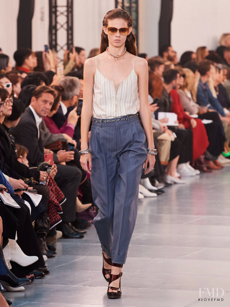 Julia Merkelbach featured in  the Chloe fashion show for Spring/Summer 2020