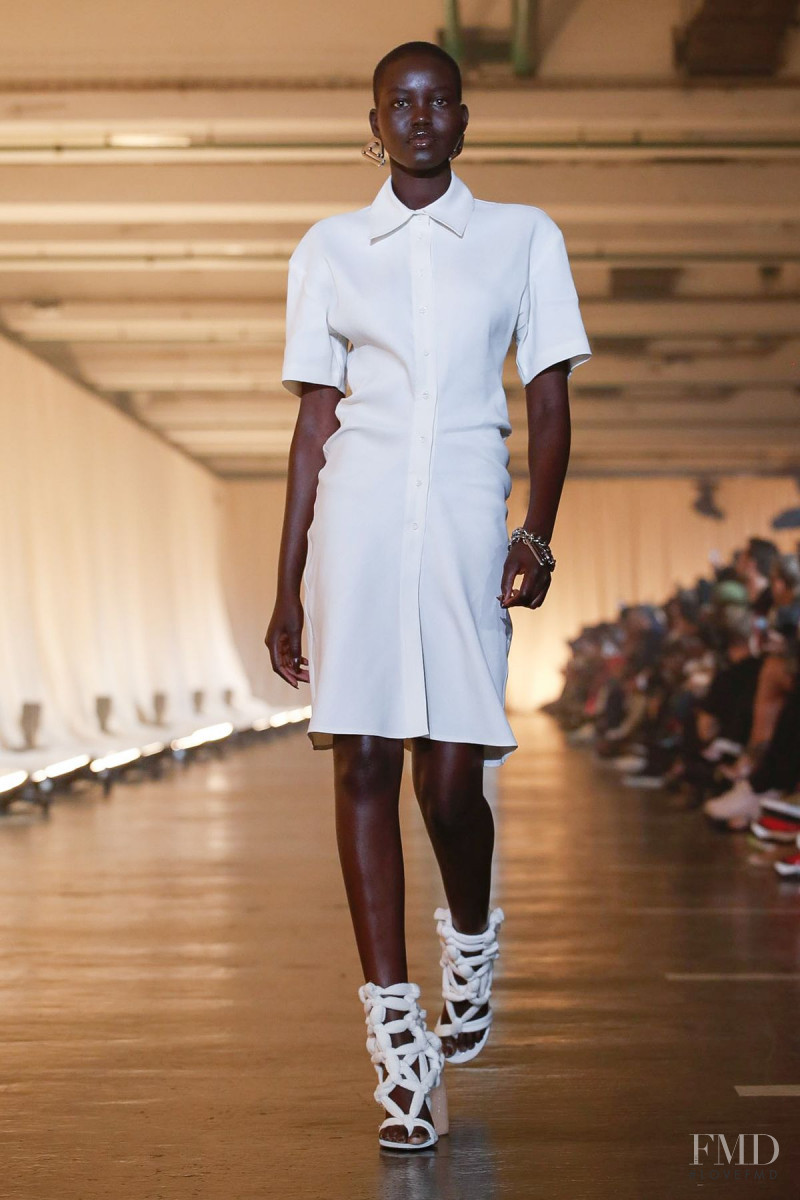 Adut Akech Bior featured in  the Off-White fashion show for Spring/Summer 2020