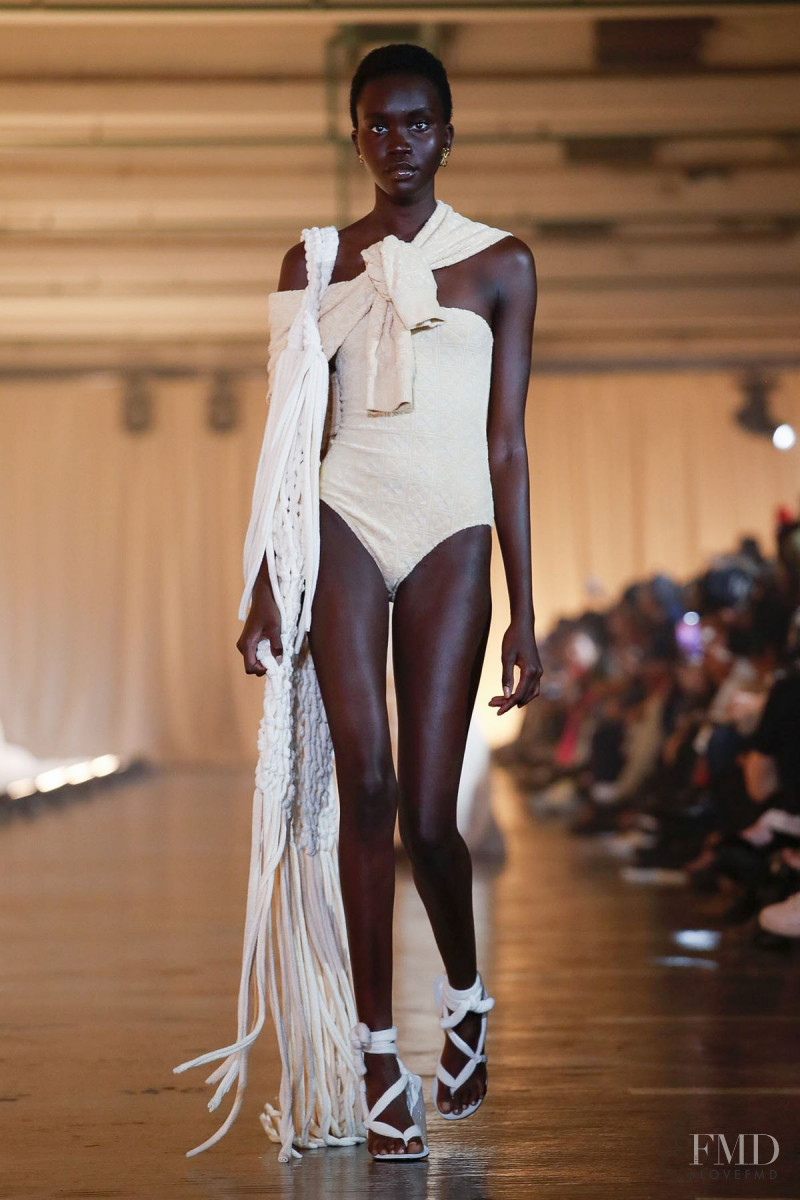 Achenrin Madit featured in  the Off-White fashion show for Spring/Summer 2020
