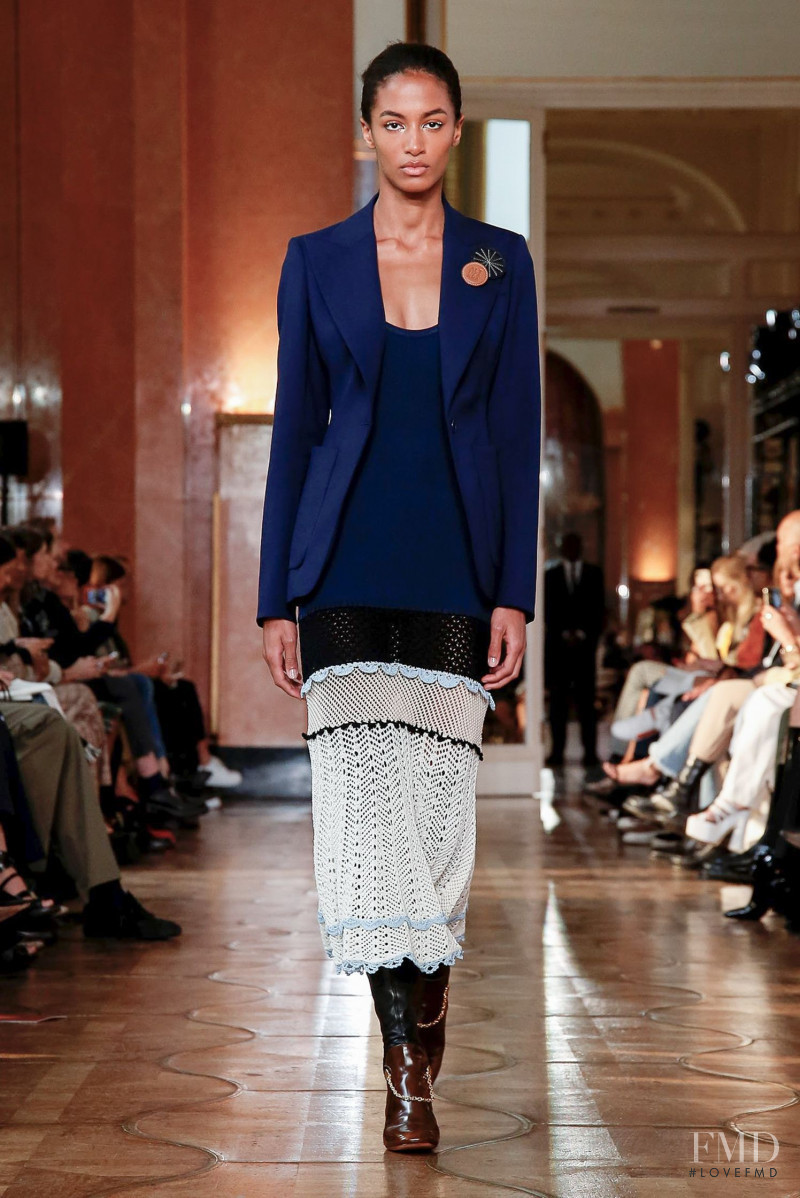 Sacha Quenby featured in  the Altuzarra fashion show for Spring/Summer 2020