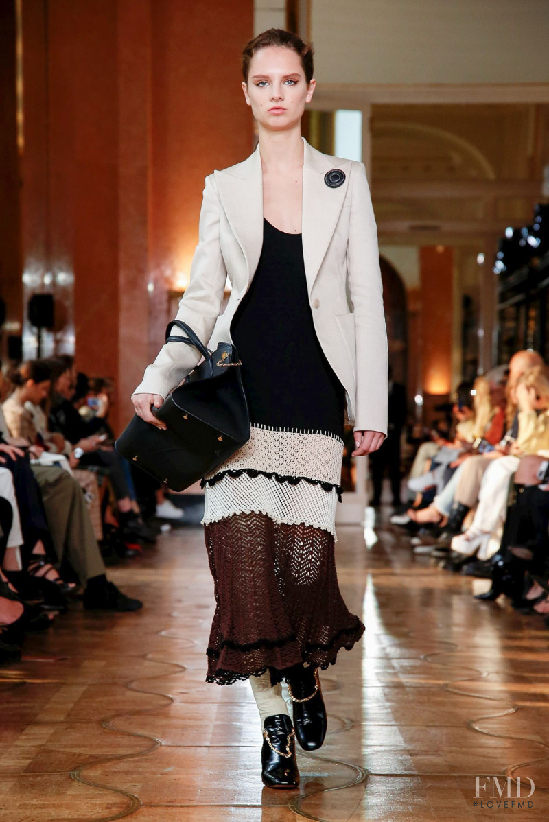 Giselle Norman featured in  the Altuzarra fashion show for Spring/Summer 2020
