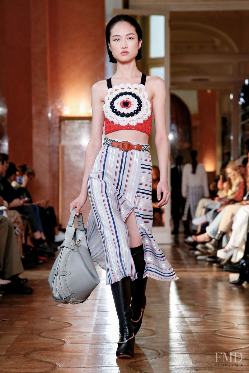 Jing  Wen featured in  the Altuzarra fashion show for Spring/Summer 2020