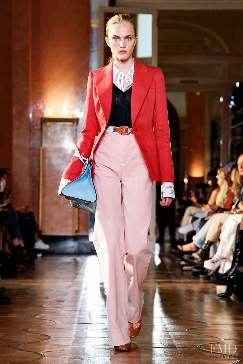 Josefine Lynderup featured in  the Altuzarra fashion show for Spring/Summer 2020