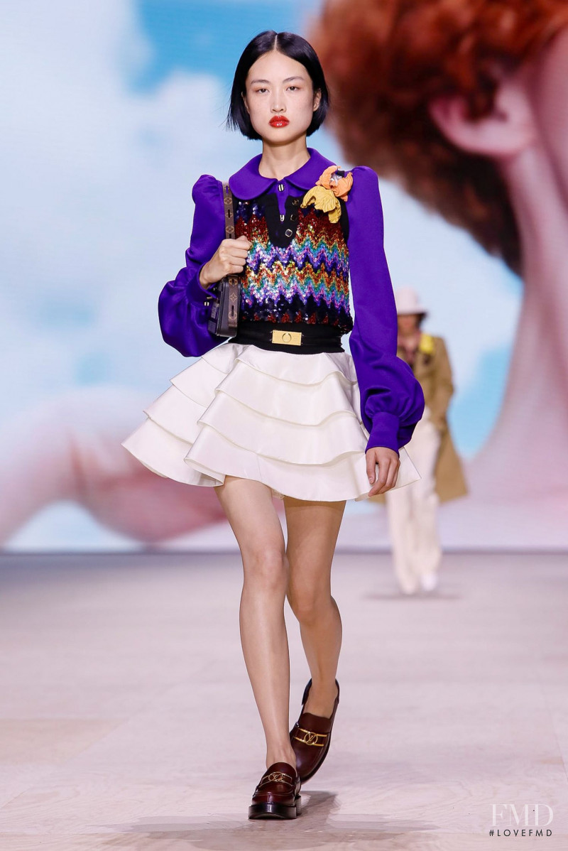 Jing  Wen featured in  the Louis Vuitton fashion show for Spring/Summer 2020