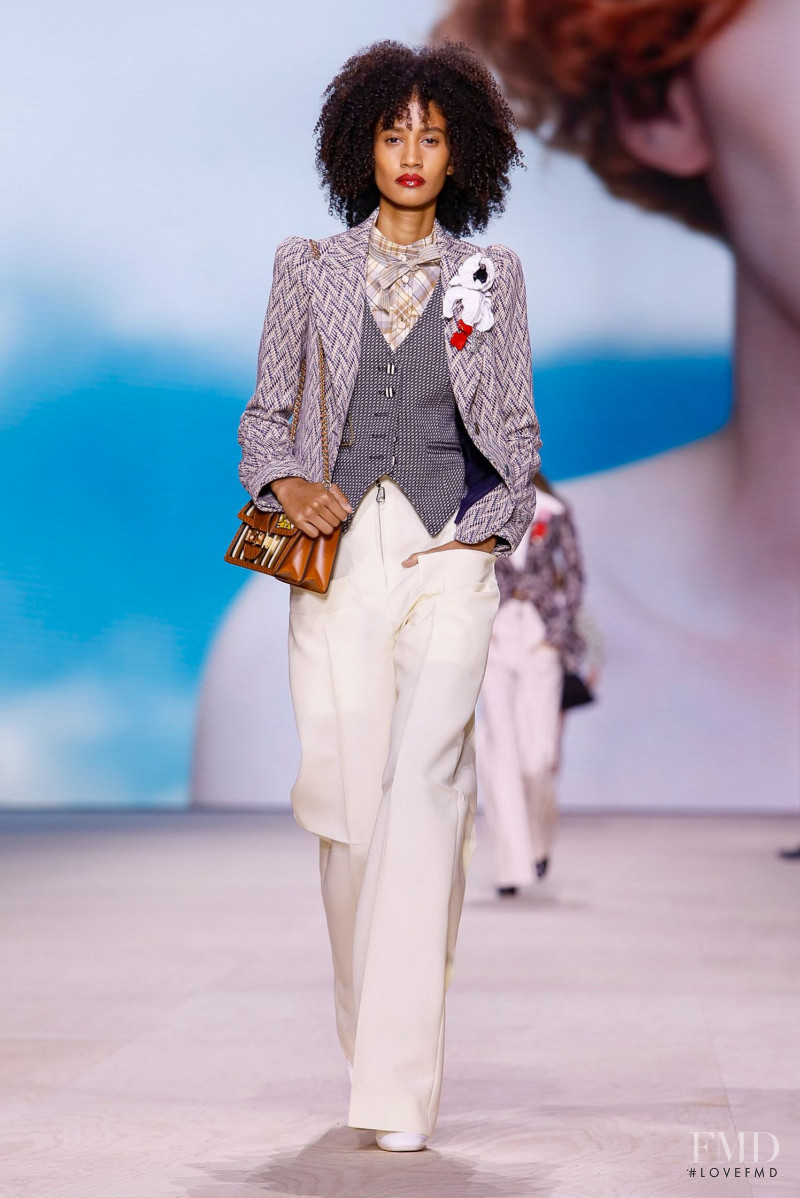 Allexia De Jesus featured in  the Louis Vuitton fashion show for Spring/Summer 2020