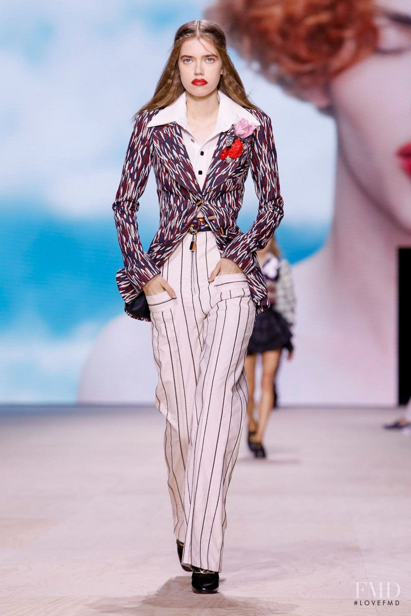 Masha Skokova featured in  the Louis Vuitton fashion show for Spring/Summer 2020