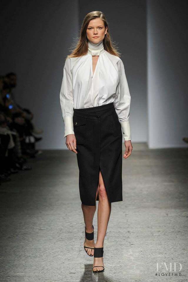 Kasia Struss featured in  the Ports 1961 fashion show for Autumn/Winter 2014