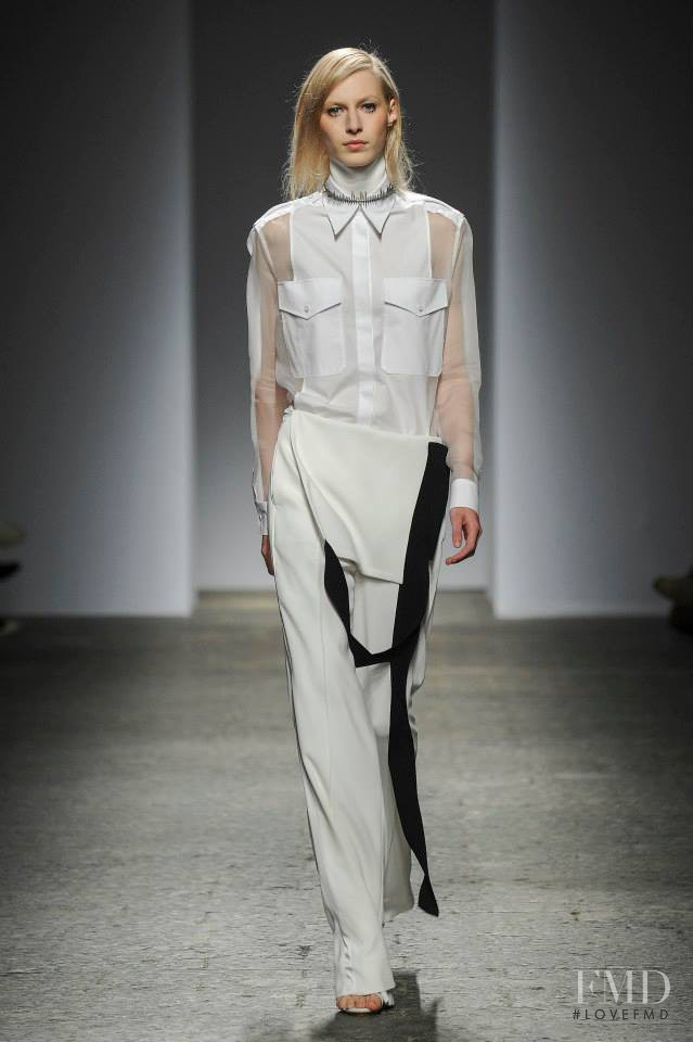 Julia Nobis featured in  the Ports 1961 fashion show for Autumn/Winter 2014