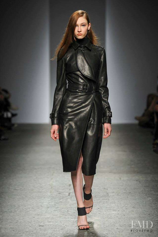 Lera Tribel featured in  the Ports 1961 fashion show for Autumn/Winter 2014