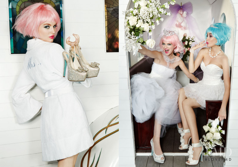Sarah Stephens featured in  the Betsey Johnson Blue lookbook for Summer 2014