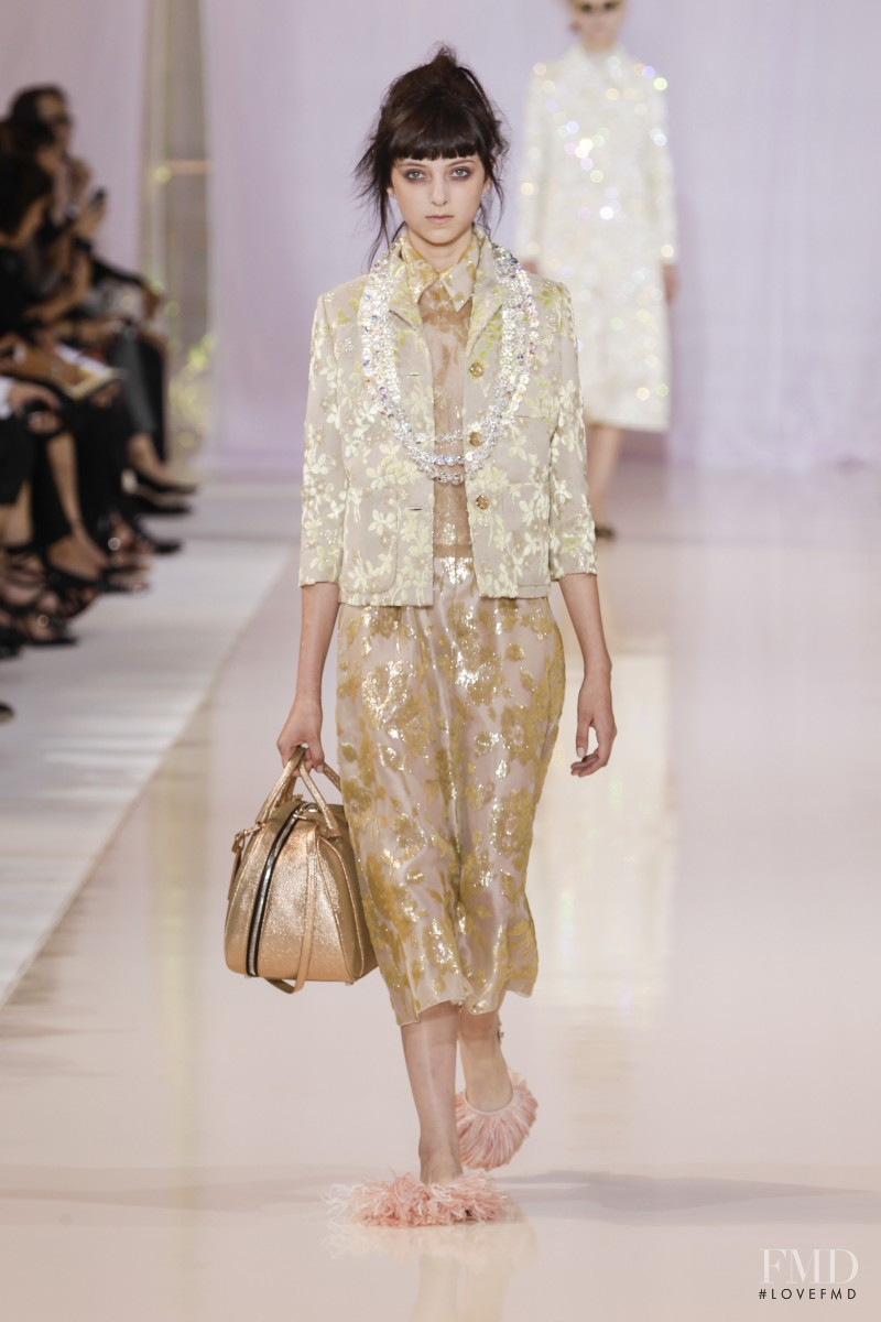 Sarah Engelland featured in  the Rochas fashion show for Spring/Summer 2014