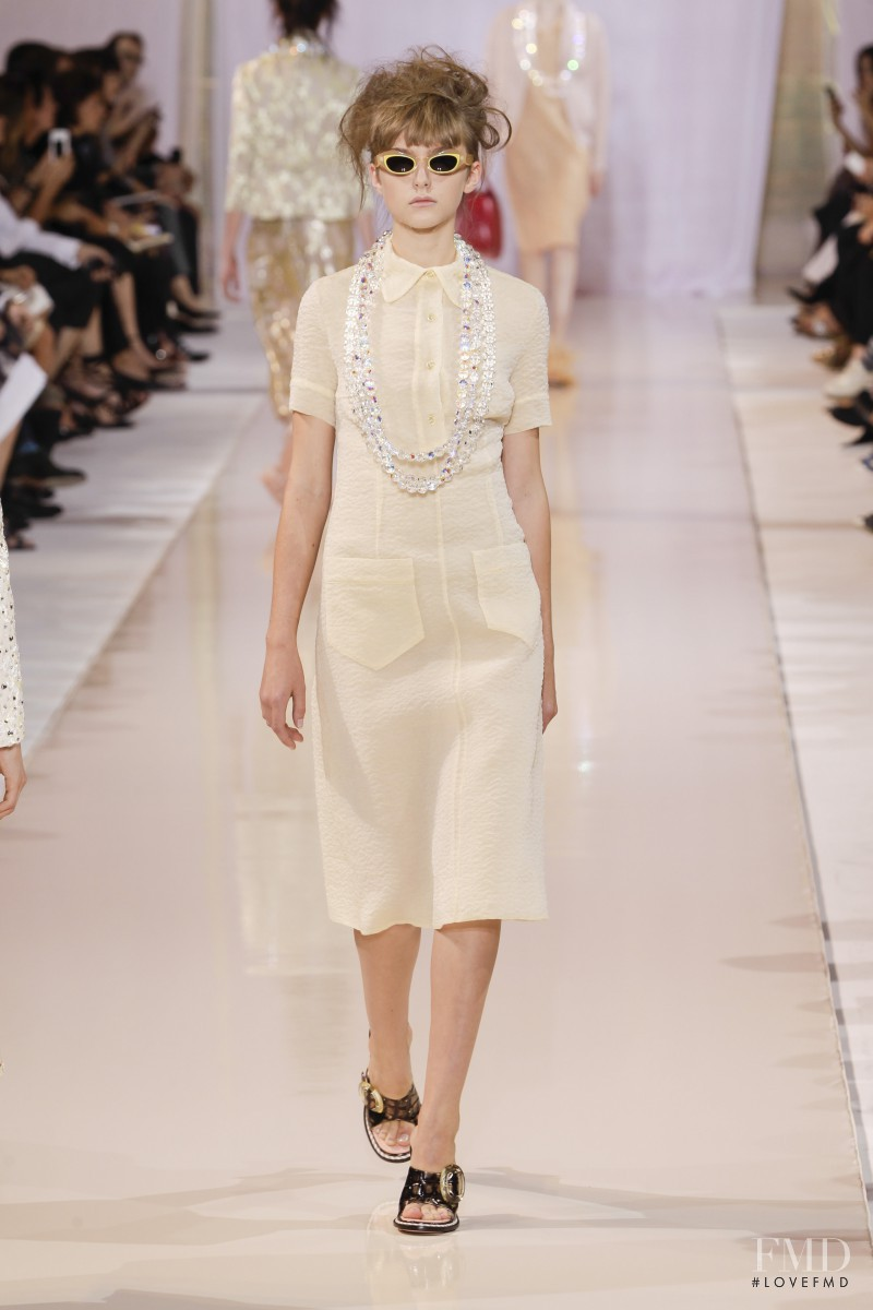 Gracie van Gastel featured in  the Rochas fashion show for Spring/Summer 2014