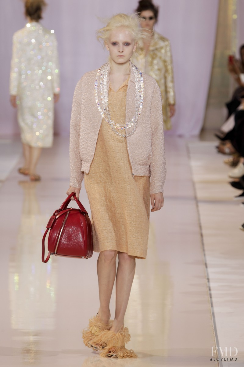 Maja Salamon featured in  the Rochas fashion show for Spring/Summer 2014
