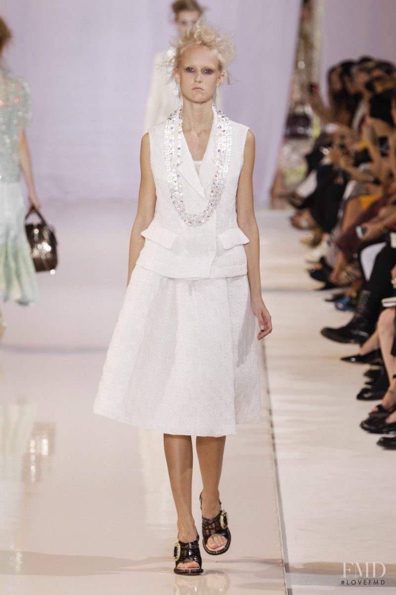 Harleth Kuusik featured in  the Rochas fashion show for Spring/Summer 2014