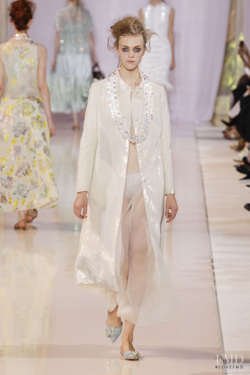Hedvig Palm featured in  the Rochas fashion show for Spring/Summer 2014