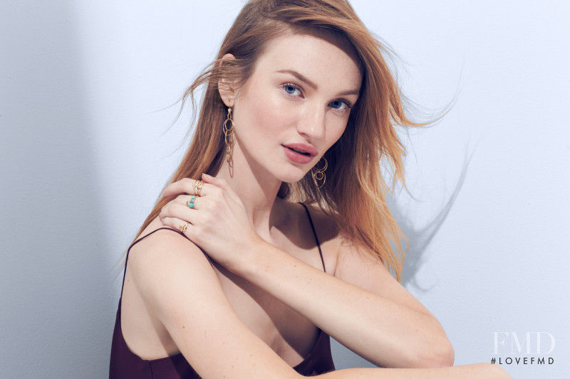 Clara Mcsweeney featured in  the Ippolita advertisement for Spring/Summer 2018