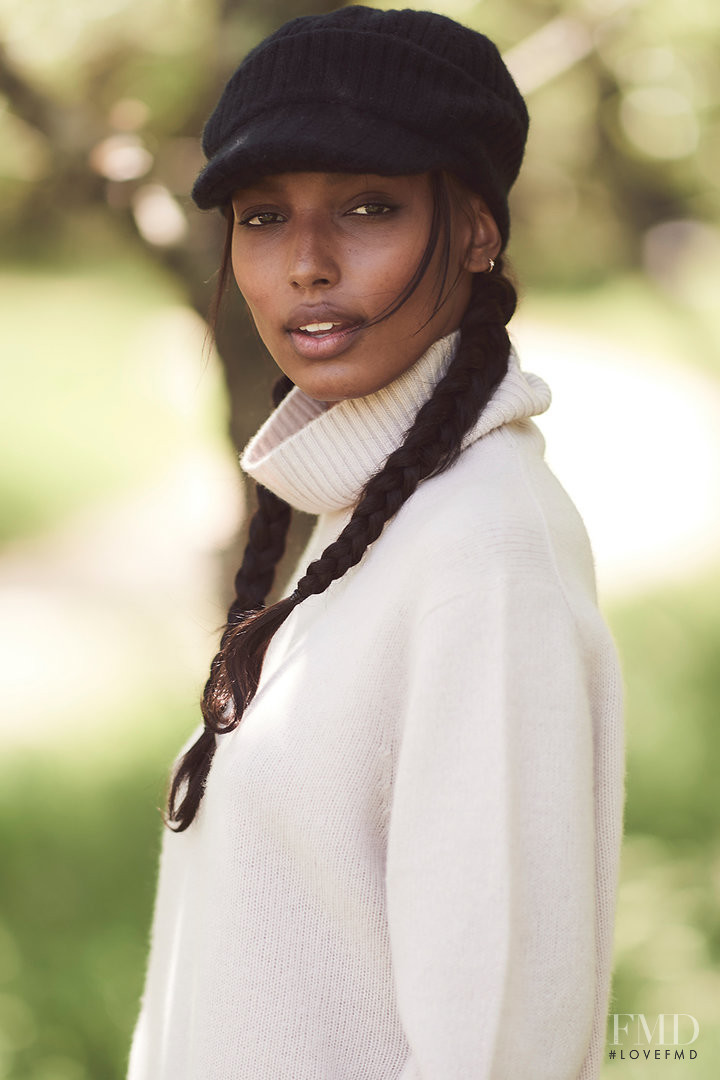 Jasmine Tookes featured in  the Naked Cashmere advertisement for Autumn/Winter 2018