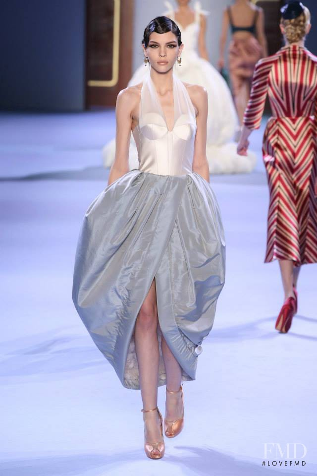 Kate Bogucharskaia featured in  the Ulyana Sergeenko fashion show for Spring/Summer 2014